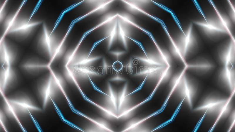 O fractal branco abstrato ilumina-se, contexto da rendição 3d, computador que gera o fundo ilustração royalty free