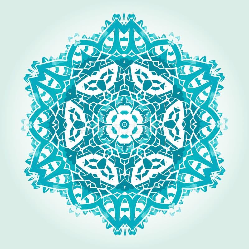O Fractal psicadélico étnico Mandala Vetora Meditation olha o gosto ilustração stock