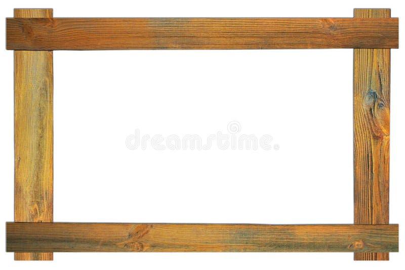 O quadro de madeira marrom fotos de stock royalty free