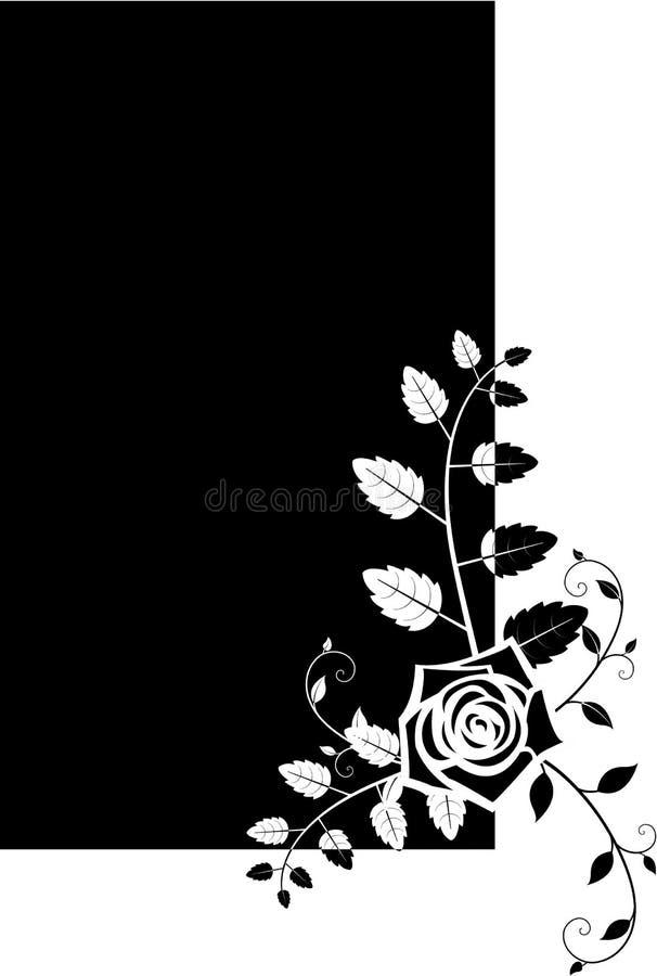 O frame floral com levantou-se ilustração stock