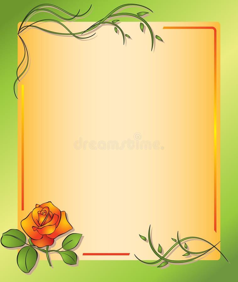 O frame floral com levantou-se - eps ilustração do vetor