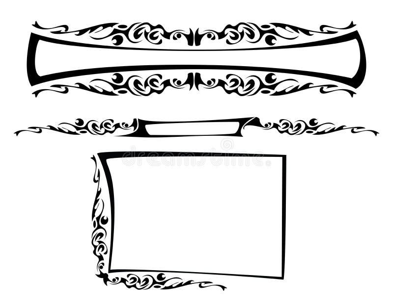 O frame gótico ilustração stock