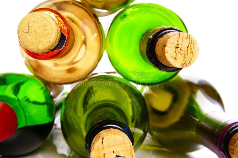 O frasco arrolha o close up fotografia de stock