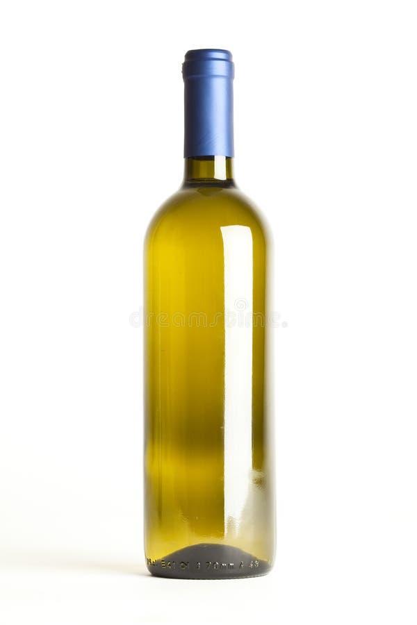 O frasco de vinho isolou a fotos de stock royalty free