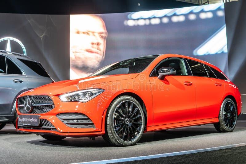 O freio de tiro 4Matic do CLA de Mercedes Benz, segunda gera??o, C118, carro da carrinha produziu por Mercedes-Benz imagens de stock