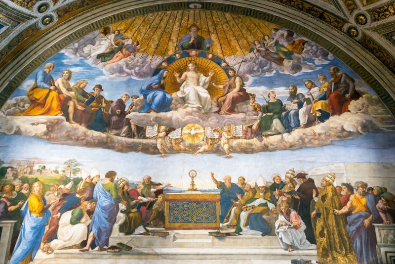 O fresco do século XVI no museu do Vaticano fotos de stock