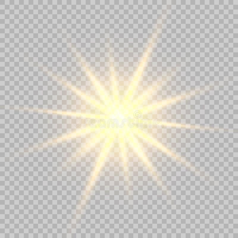 O fulgor claro explode ilustração do vetor