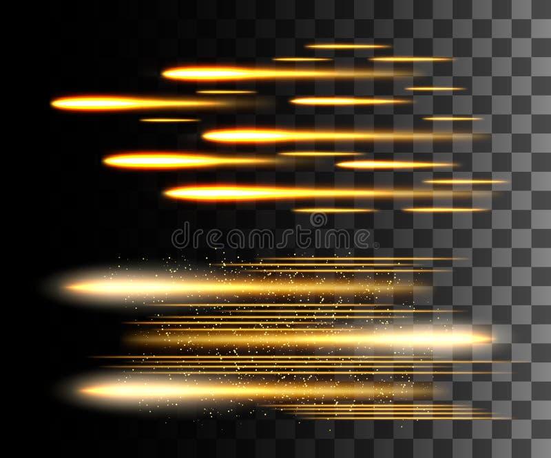 O fulgor isolou o efeito transparente branco, o alargamento da lente, a explosão, o brilho, a linha, o flash do sol, a faísca e a ilustração stock