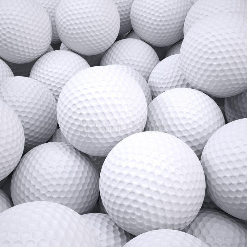 O fundo é fora das bolas de golfe ilustração stock