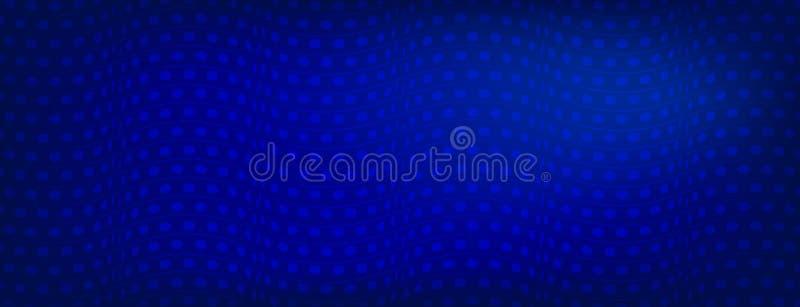 O fundo abstrato azul brilhante com curvas alinha, ilustração do vetor, moldes criativos do projeto de negócio Arte abstrato cria ilustração do vetor