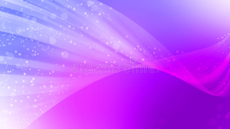 O fundo abstrato bonito, o tom roxo e o bokeh acenam a luz ilustração do vetor