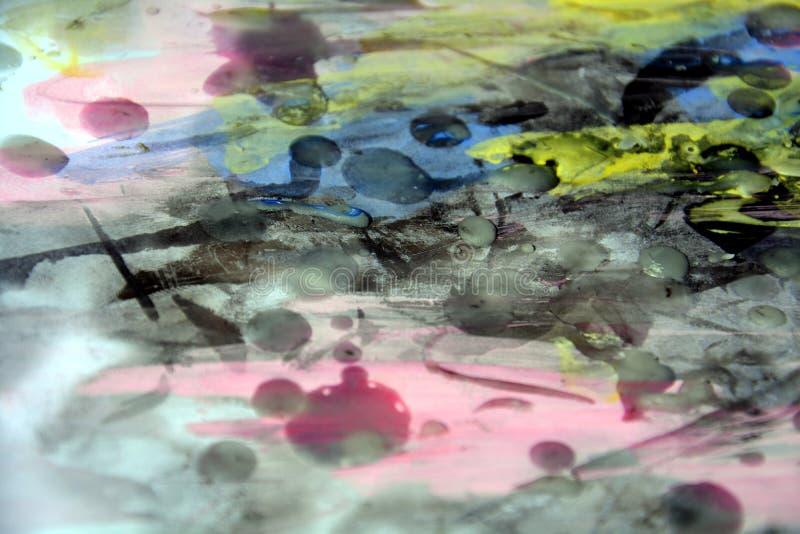 O fundo abstrato, cera, queimou o papel, pintura, aquarela imagem de stock