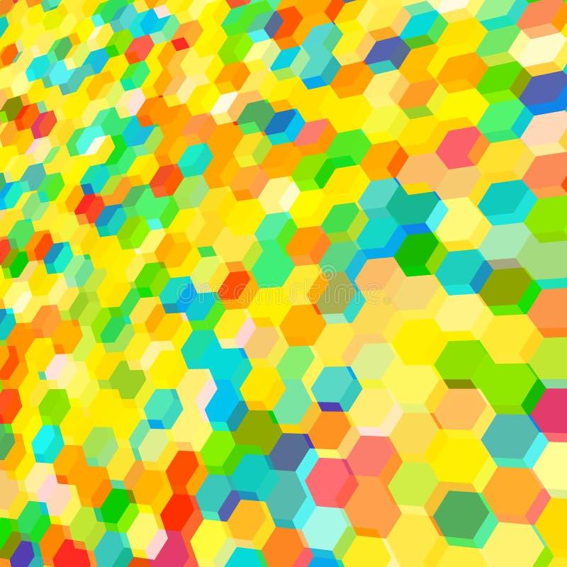 O fundo abstrato com colorido encanta polígono ilustração stock