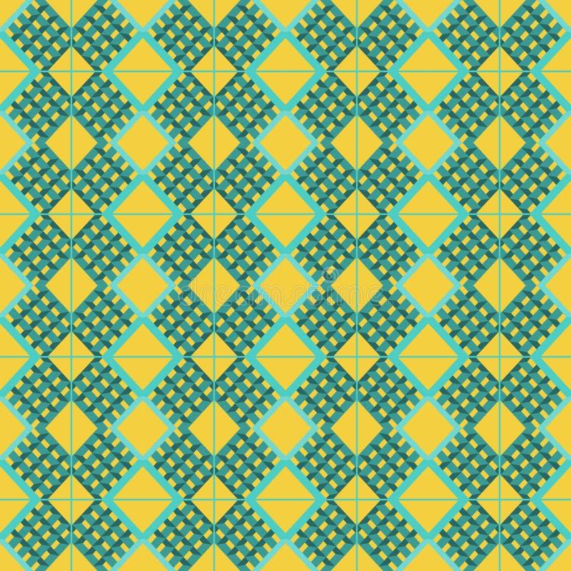 O fundo abstrato com prisma do aqua dá forma e esquadra ao teste padrão ilustração stock
