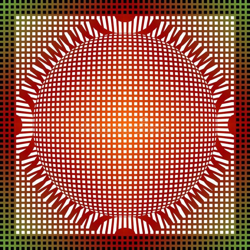 O fundo abstrato da grade no vermelho e o verde projetam, tileable sem emenda ilustração stock