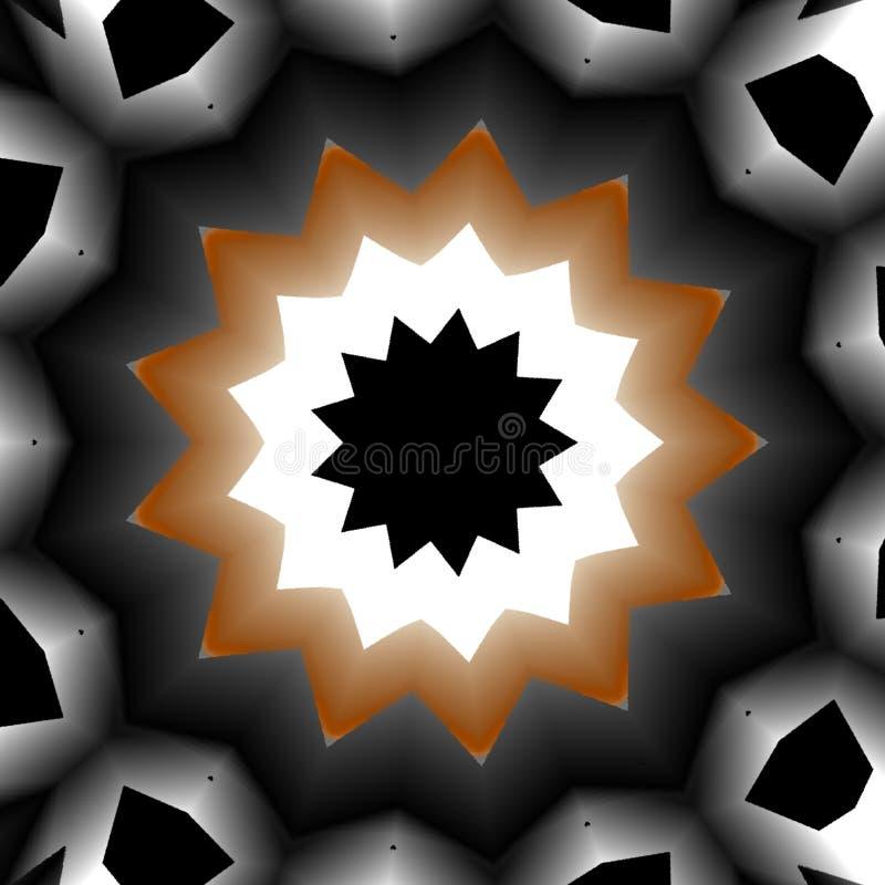 O fundo abstrato do caleidosc?pio, pode ser usado para projetos, motivos do batik, pap?is de parede, ilustração do vetor