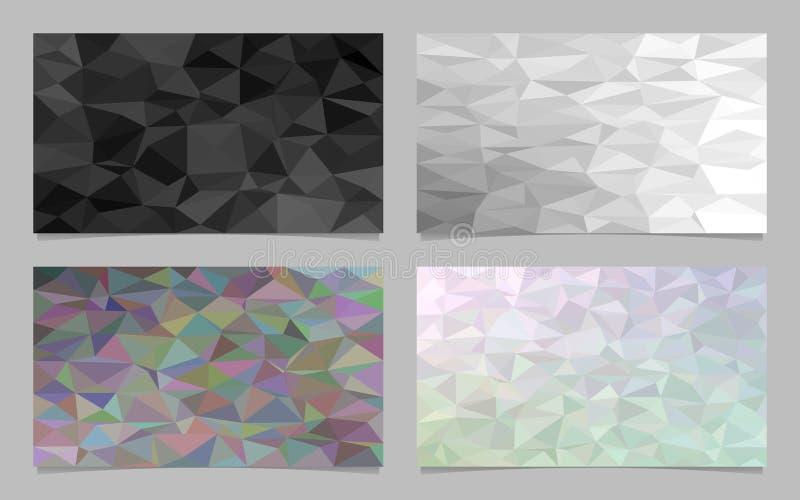 O fundo abstrato do cartão do mosaico do triângulo da telha ajustou - a coleção poligonal moderna do projeto do vetor ilustração do vetor