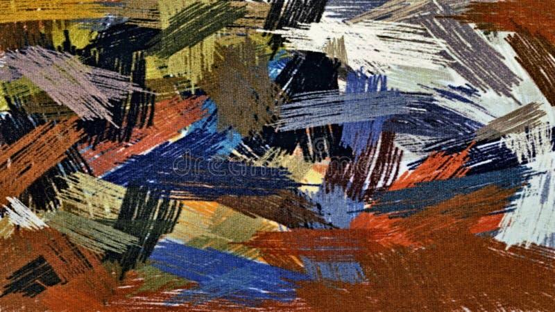 O fundo abstrato do grunge dos pontos borrados caóticos da cor escova cursos de tamanhos diferentes ilustração stock