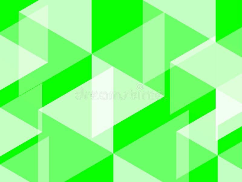 O fundo abstrato do hexágono e do polígono no verde do colorbright do verde do UFO evoca campos luxúrias ilustração stock
