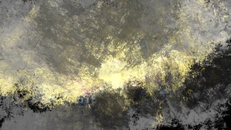 O fundo abstrato do sol nubla-se a pintura áspera da ilustração da parede da oxidação imagem de stock