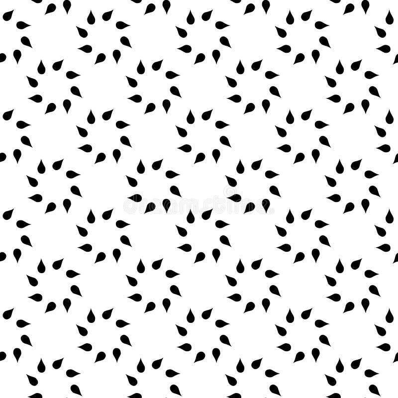 O fundo abstrato preto e branco do vetor e o teste padr?o sem emenda da repeti??o projetam ilustração do vetor