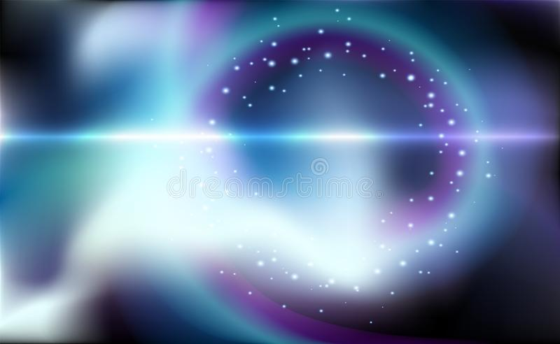 O fundo azul do vetor do voo espacial com inclinação, teste padrão abstrato da ilustração pode ser usado para o anúncio do aqua,  ilustração stock
