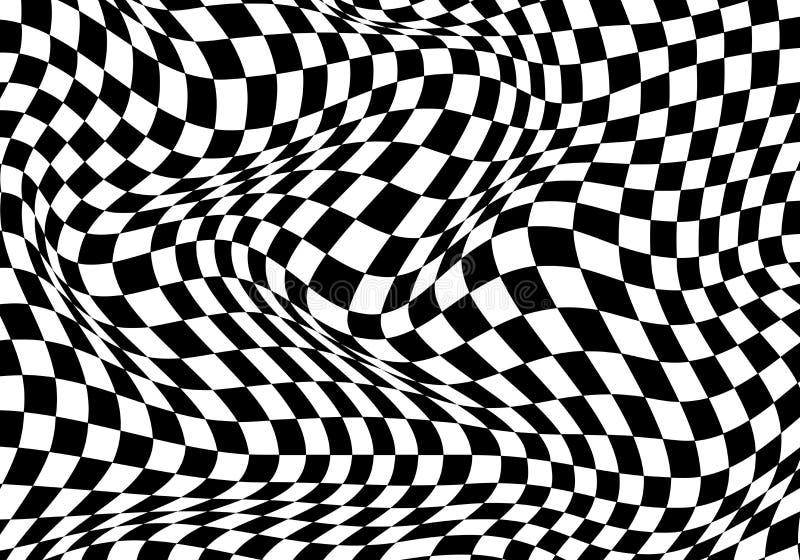 O fundo branco do preto quadriculado da onda para o campeonato da raça do esporte e o negócio terminam o vetor do sucesso ilustração royalty free