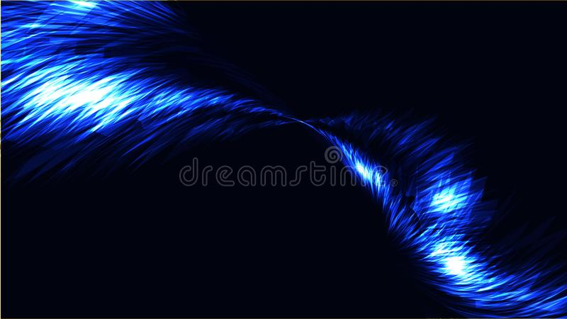 O fundo claro brilhante brilhante bonde da textura da energia cósmica mágica brilhante abstrata azul das tiras, linhas energética ilustração royalty free