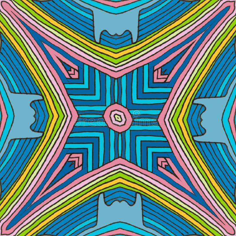 O fundo colore - a ilusão das linhas ilustração stock