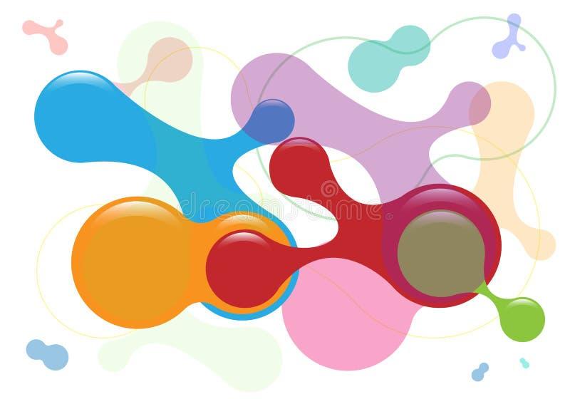 O fundo colorido abstrato criativo do vetor com sumário 3D lustroso dá forma à versão branca ilustração royalty free