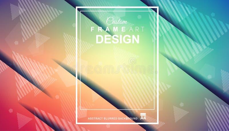 O fundo colorido geométrico abstrato com elevação saturou gradi ilustração royalty free