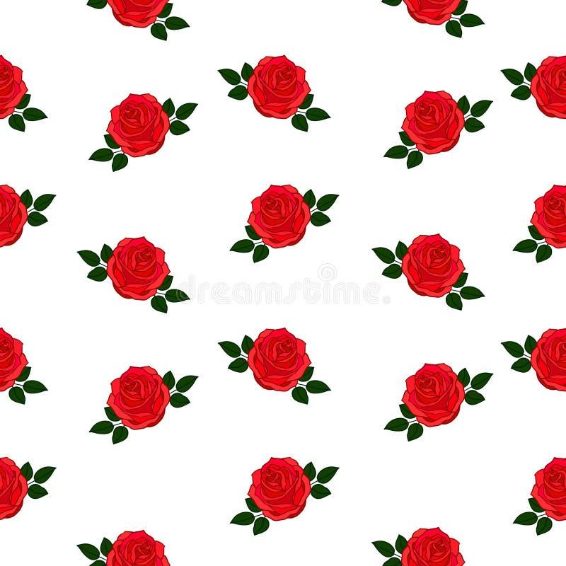 O fundo com vermelho levantou-se ilustração royalty free