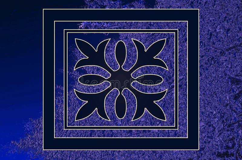 O fundo consiste em um ornamento na textura do fundo ilustração royalty free