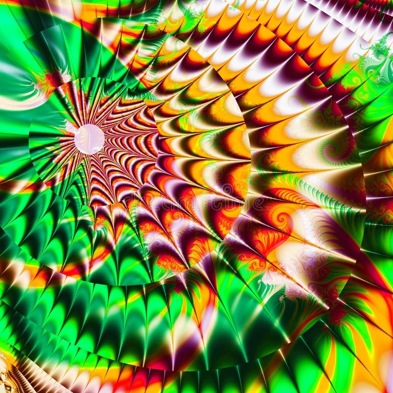 O fundo consiste na textura da cor do fractal e ? apropriado para o uso nos projetos na imagina??o, na faculdade criadora e no pr ilustração stock