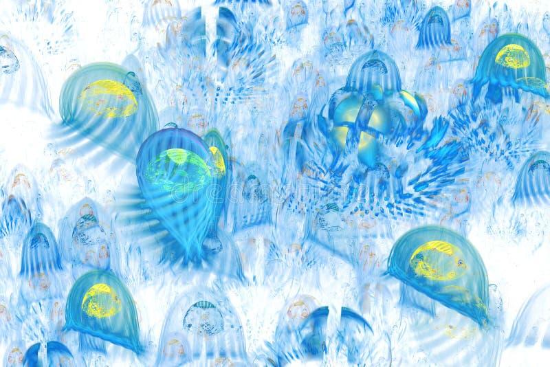 O fundo consiste textura do fractal e apropriado multicoloridos para o uso na imagina??o, na faculdade criadora e no projeto dos  ilustração do vetor