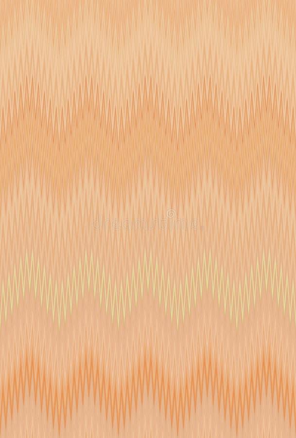O fundo da arte abstrato do teste padrão do bronze do café do marrom da onda do ziguezague de Chevron tende ilustração do vetor