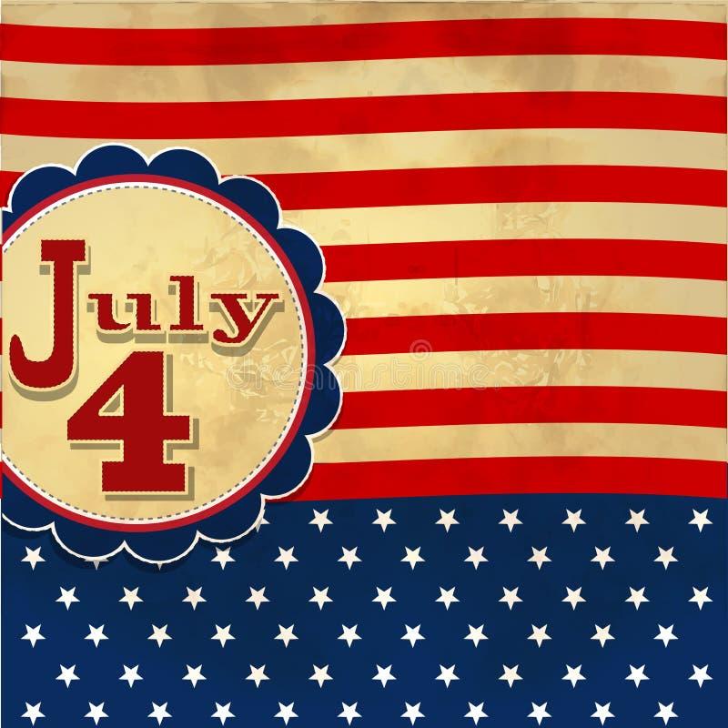 O fundo da bandeira americana com as estrelas que simbolizam o 4 de julho indepen ilustração royalty free