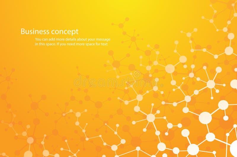 o fundo da ciência, e-produto químico do fundo da molécula combina a tecnologia médica ou científico genético Conceito para seu p ilustração royalty free