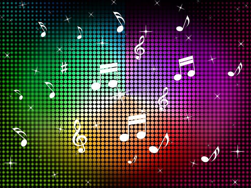 O fundo da cor da música significa Jazz Classical And Notes ilustração stock