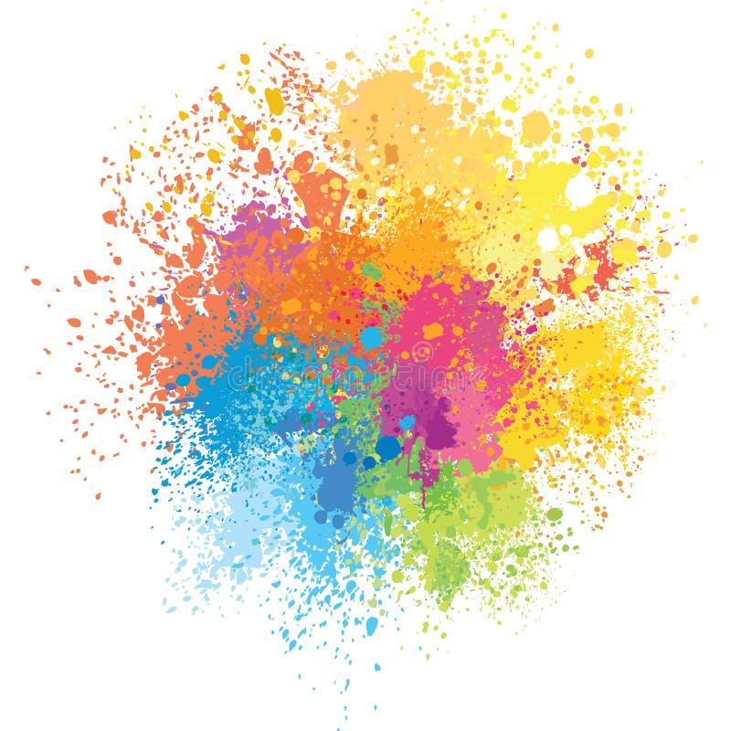 O fundo da cor da pintura espirra ilustração do vetor