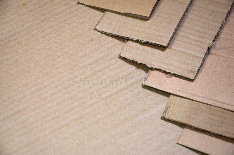 O fundo das texturas de papel empilhou pronto para reciclar Um bloco do cartão velho do escritório para reciclar da papelada Pilh fotografia de stock royalty free