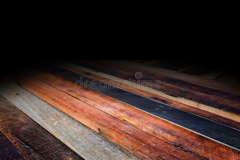 O fundo de madeira do assoalho da prancha tropical, zomba acima para a exposição foto de stock royalty free