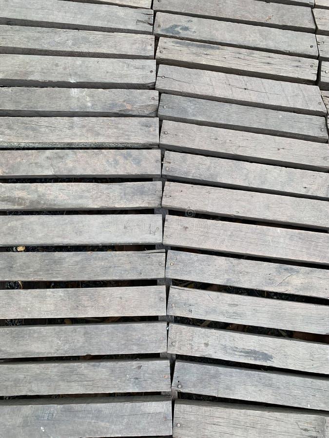 O fundo de madeira velho do caminho fotografia de stock