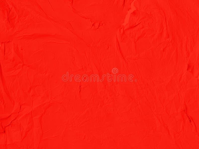O fundo de papel amarrotado vermelho foto de stock royalty free