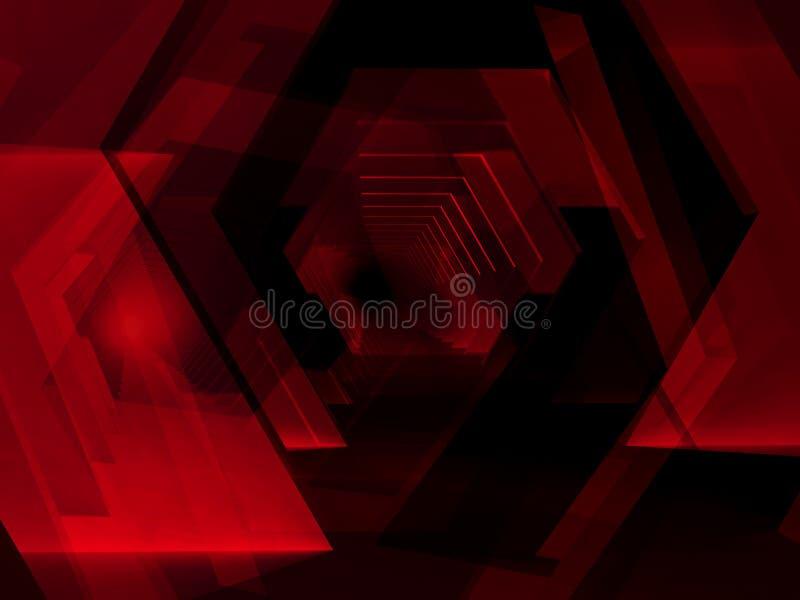 O fundo digital escuro do sumário, 3d rende fotos de stock
