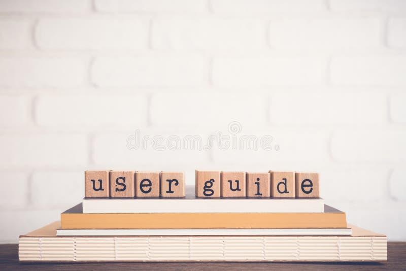 O fundo do espaço do guia do usuário e da cópia da palavra imagens de stock
