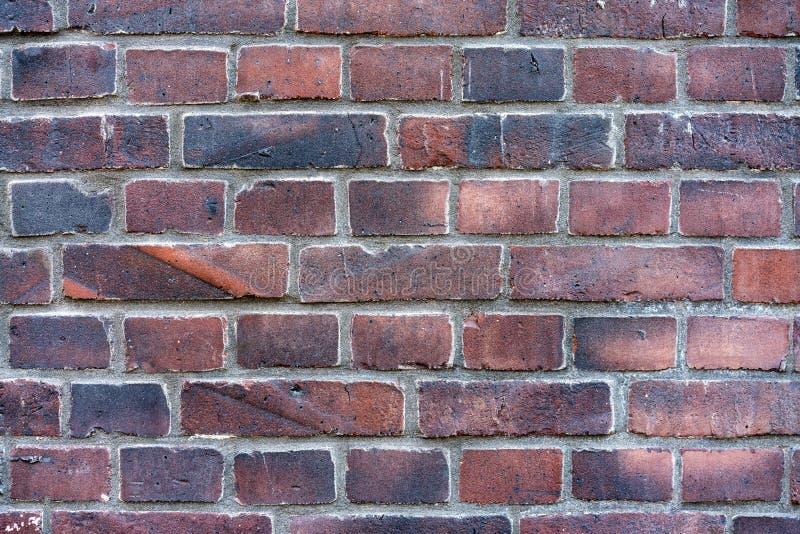 o fundo do grunge da textura da parede de tijolo vermelho com, pode usar-se ao design de interiores imagens de stock