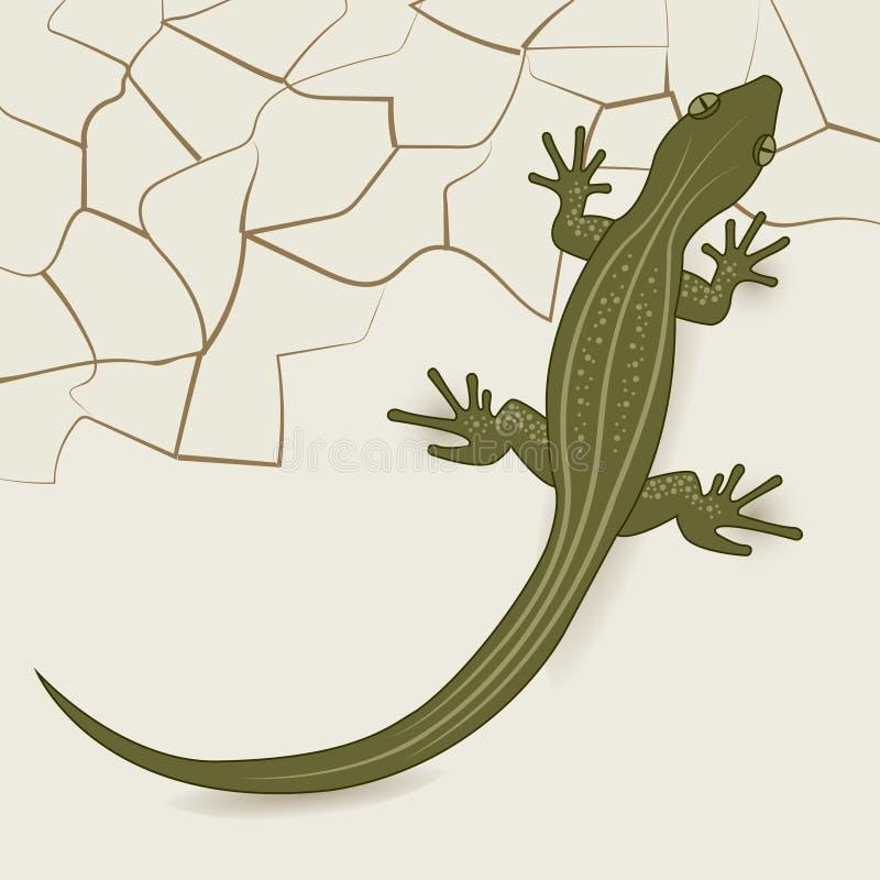 O fundo do lagarto do deserto ilustração stock
