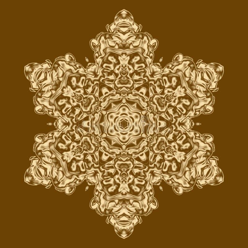 O fundo do ouro isolou o sumário da textura e do projeto, página ilustração stock
