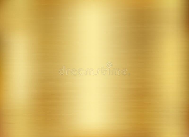 O fundo do ouro, ouro lustrou o metal, textura de aço ilustração do vetor